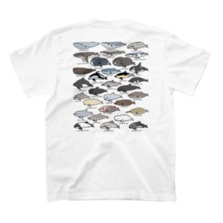 ゆるホエール(横向き)バックプリント T-shirts