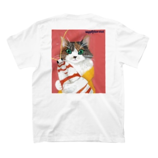 保護猫ジーア (バックプリント) T-shirts