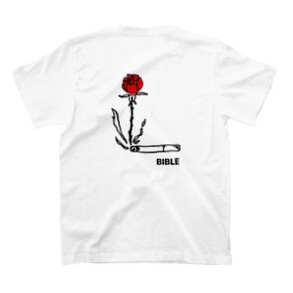 smoke flower バックプリント T-shirts