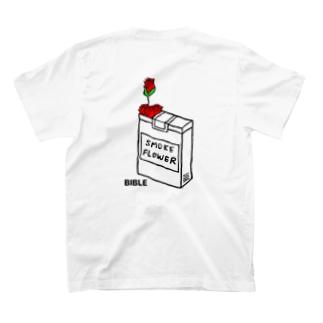 cigarette  flower バックプリント T-shirts
