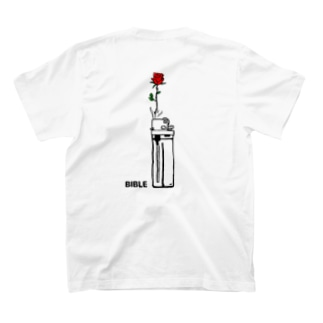 fire flower バックプリント T-shirts