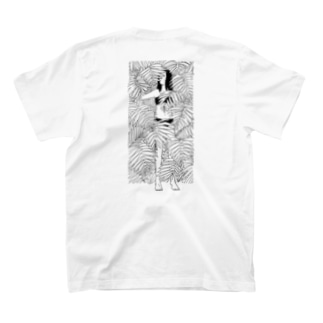 PALM TREE ILLUSION(Black Line) T-shirts