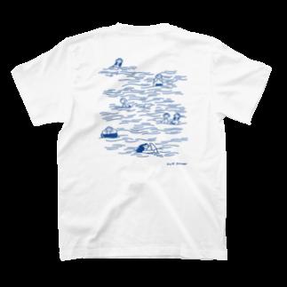 unpisのswim in the sea T-shirtsの裏面