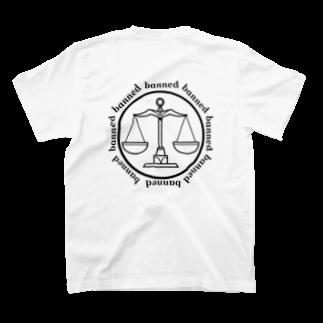 bannedのbanned てんびん ゾディアック T-shirtsの裏面
