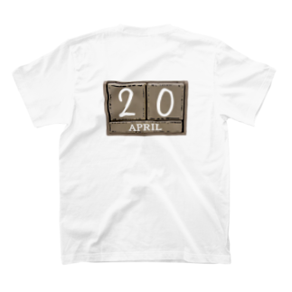 420GNJの420。 Our important day T-shirtsの裏面