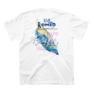 SHOP ROMEO のBlue Bird  Feather T-shirtsの裏面