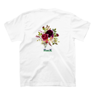 HacKのFlower T-shirts