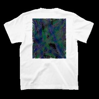 MunōのバックプリントT_白 T-shirtsの裏面
