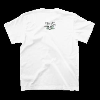 ねこりんストアのすずらんマウス ※バックプリント T-shirtsの裏面