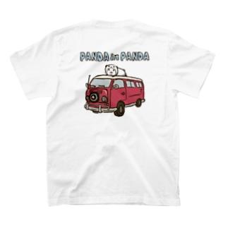 パンダinぱんだ(ワゴン車)※両面印刷 T-shirts