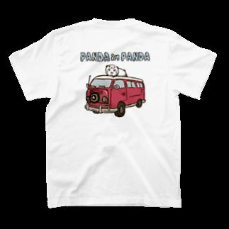 スパイシー千鶴のパンダinぱんだ(ワゴン車)※両面印刷 T-shirtsの裏面