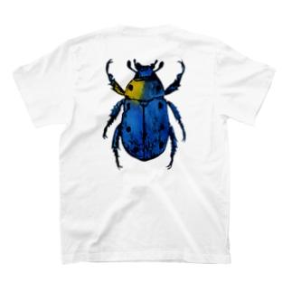 彩りコガネムシ(青) T-shirts