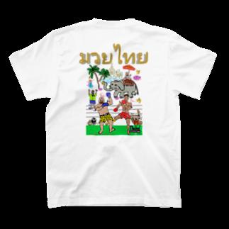 uwotomoのバックプリント【ムエタイDX】 T-shirtsの裏面