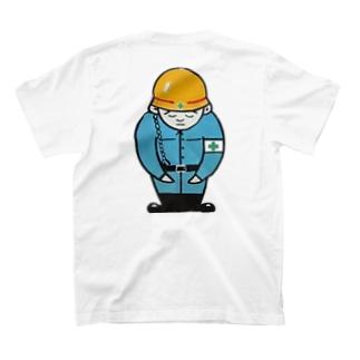 安全第一サン バックプリントTシャツ T-shirts