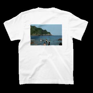AMU KAGOSHIMAのHiroki Isohata デザインTシャツ T-shirtsの裏面