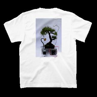 AMU KAGOSHIMAのsaku.Botanicalworks  デザインTシャツ T-shirtsの裏面