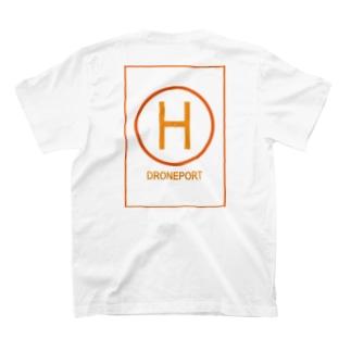 ドローンポートオレンジイエロー T-shirts