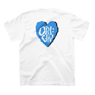 Origin heart Tee -mizuiro- T-shirts