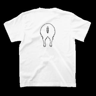 さくら もたけのおしり干支シリーズ_亥ver. T-shirtsの裏面