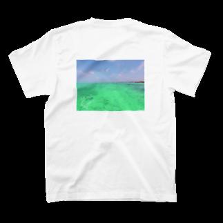 mikalohasmileのSUP*マリンブルー T-shirtsの裏面