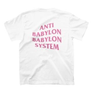 ANTI BABYLON BABYLON SYSTEM - PINK T-shirts