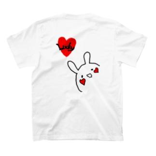 ラッキーラビットTシャツ(背面ver) T-shirts