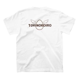 【うさみみデザイン】とりのこいろ空とぶたまご(背面Tシャツ) T-shirts