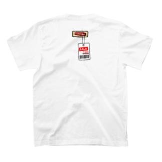 【バックプリント】ひたすら恥ずかしい感じ 値札取り忘れ T-shirts