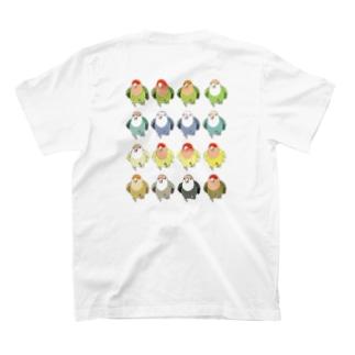 コザクラインコ色変わりいろいろ T-shirts