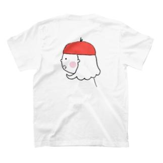 ヒトトキ。えほんロゴ ふりむきりんごちゃん T-shirts