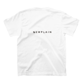 NEWPLAINロゴ(BLACK) T-shirts