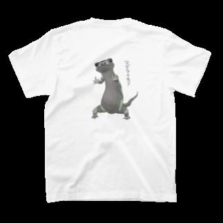 藍色Zooの餌をおねだりマダライモリ T-shirts