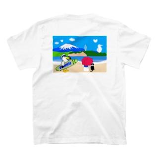 海辺でまったり パラソル T-shirts