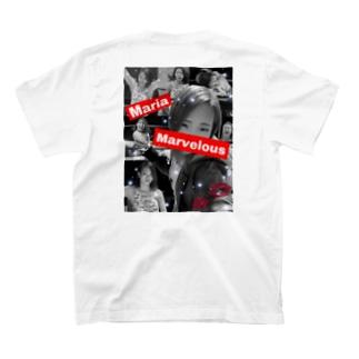 Mariaモノトーンロゴ T-shirts