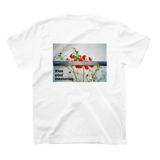 "Kiss your memoriesの""what you can see""  back print T-shirts"