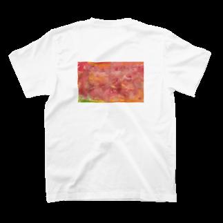 柳ちひろの黄桃 T-shirtsの裏面
