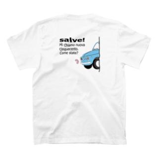 ひょっこりちん2 アズーロ T-shirts