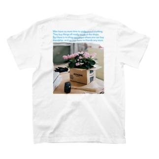 箱に入った花 (バックプリント) T-shirts