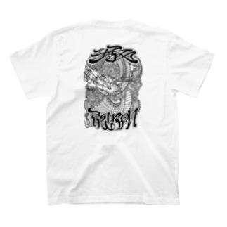 Y'sロゴ Dragon T (Black Print) T-shirts