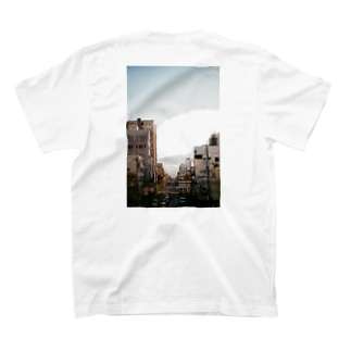 ぱんちゃりんちゃの歩道橋からダイブ バックプリント T-shirtsの裏面