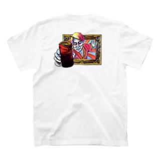 ヒノマルエスビーの西日本缶珈琲女子 T-shirtsの裏面