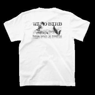 aliveONLINE SUZURI店のWILD BIRB T-shirtsの裏面