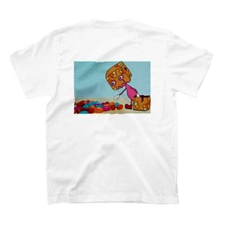紙袋くんとグミ(back) T-shirts