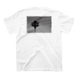 RUDE/ホワイト/ヤシの木 T-shirts