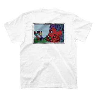 遠近法写真 赤レッド T-shirts
