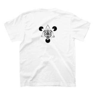 背中側 y c (歪) T-shirts