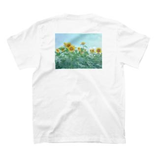 ひまわり畑Tシャツ(背面) T-shirts