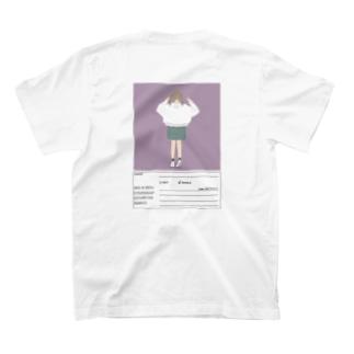n'のパスポート風女の子 T-shirts