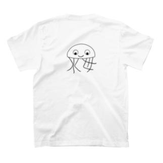 漢字水母 両面プリント T-shirts