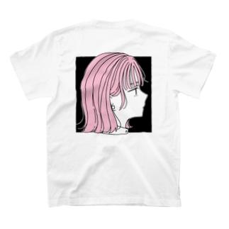 ピンクの子 黒ver T-shirts